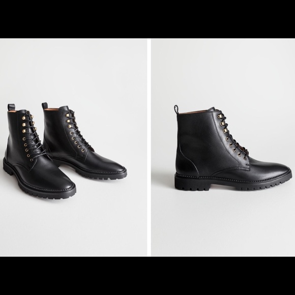 Other Stories Laceup Leather Boots